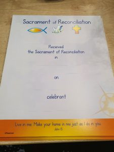 Sacrament of Reconcilation 2021
